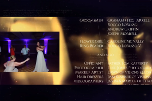 Wedding End Credits Video – Courtney And Andrew